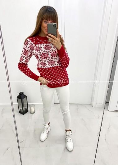 Sweterek winter red