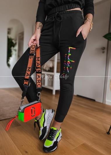 Spodnie Tifanny black & color