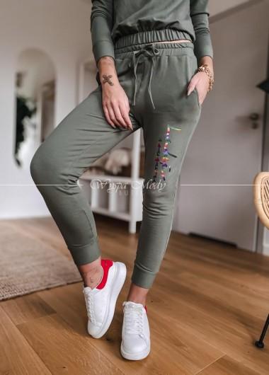 Spodnie Tiffany khaki