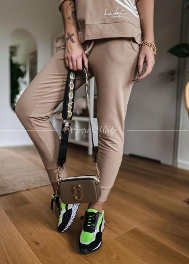 Spodnie laki camel