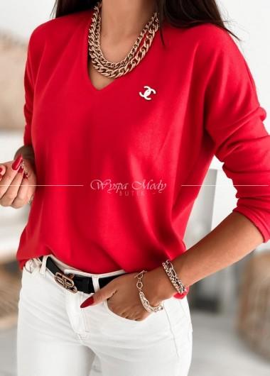 Sweterek chanel red