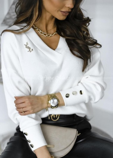 Sweterek Miranda white