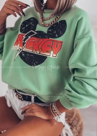Bluza Mickey Green