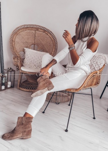 Spodnie Melodi white