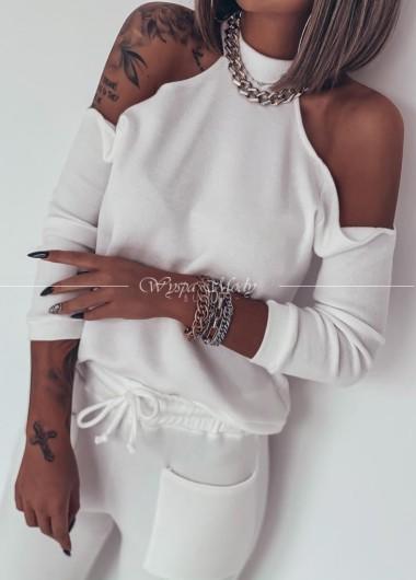 Sweterek Melodi White