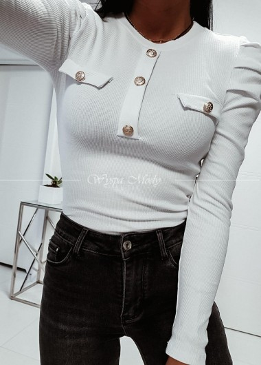 Bluzka prążek white