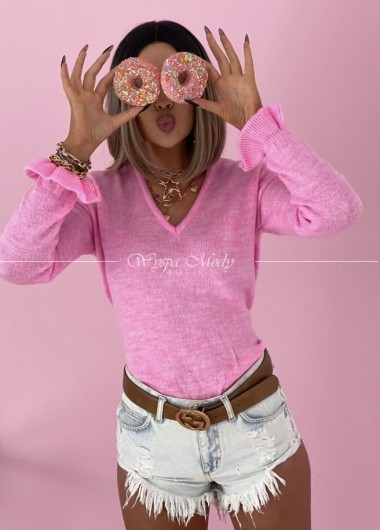 Sweterek neon Pink Fakbana