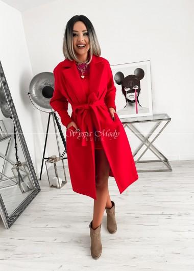 Płaszcz oversize red