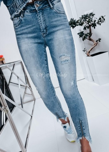 Jeansy z zamkiem Sandy
