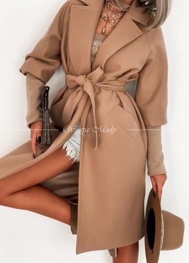 Płaszcz oversize Camel