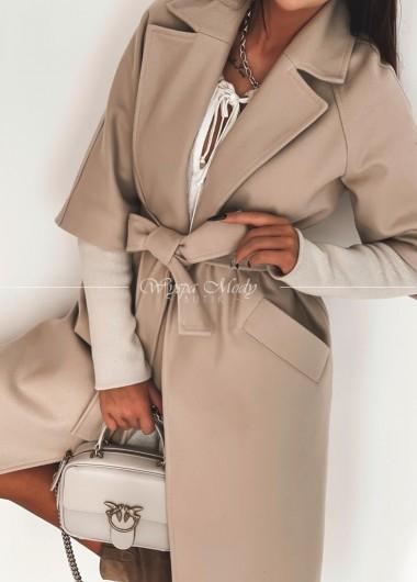 Płaszcz oversize beige
