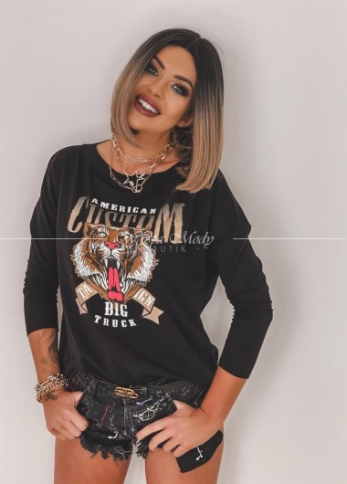 Bluzka tiger black