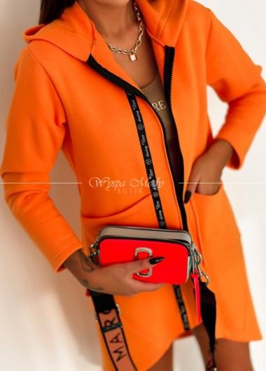 Płaszczyk dresowy neon orange