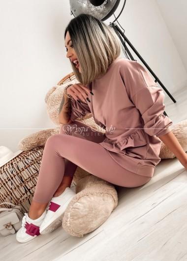 Komplet dresowy Valencja Dirty pink