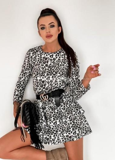 Sukienka pantera black&white