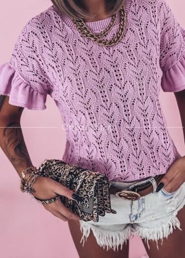 Azurkowa bluzeczka lila
