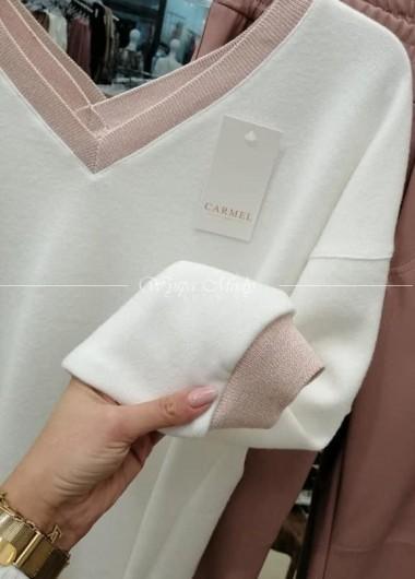 Sweterek Lea white&pink