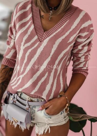 Sweterek Dirty Pink
