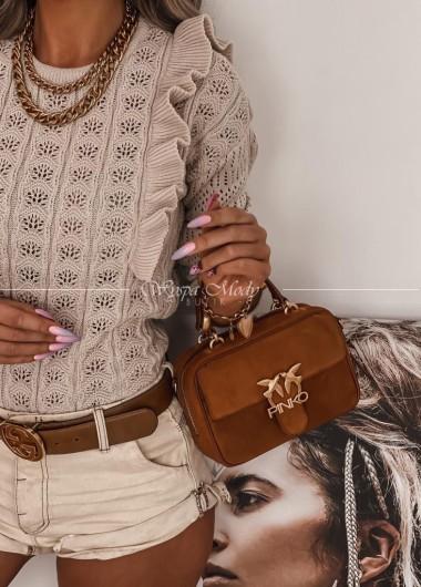 sweter ażurek Nela beige