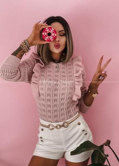 Sweterek ażurek nella