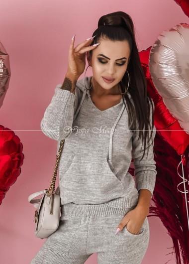 komplet sweterkowy grey