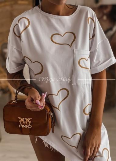 bluzka asymetryczna white