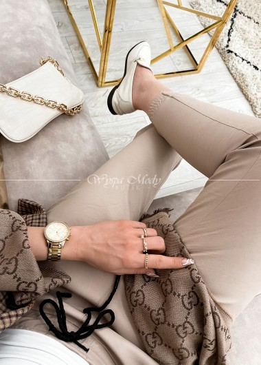spodnie veri beige