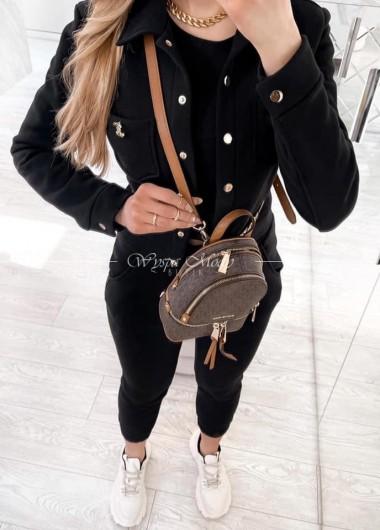 komplet top+ spodnie+ katanka black