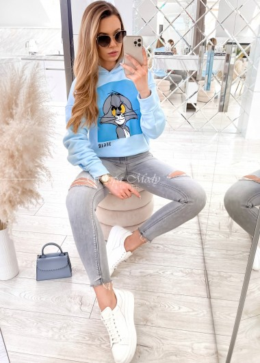 bluza tom i jerry baby blue