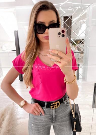 T SHIRT KIESZONKA Pink
