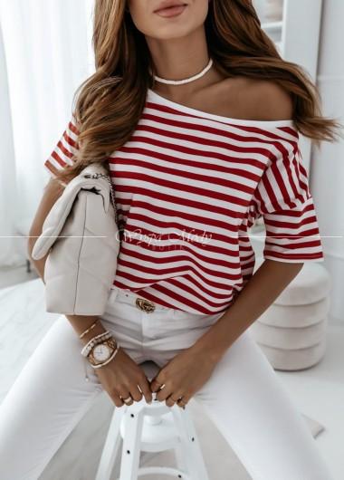 BLUZKA STRIPES White&Red