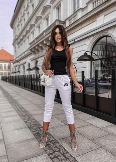 spodnie laki white