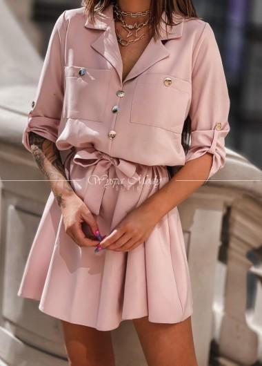 Sukienka glamour Dirty Pink
