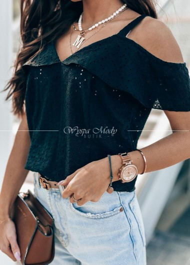 Bluzeczka ażurek black