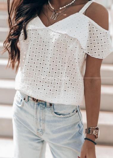 Bluzeczka ażurek white