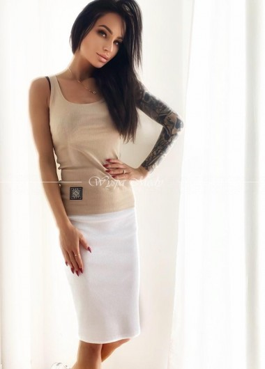 Spódnica prążek white