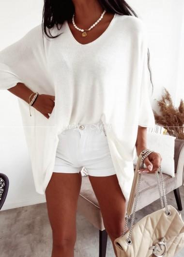 Sweterek Sandy white