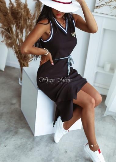 Sukienka maxi prążek black