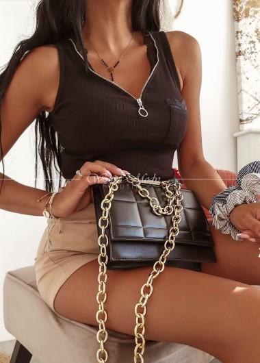 Top zip black