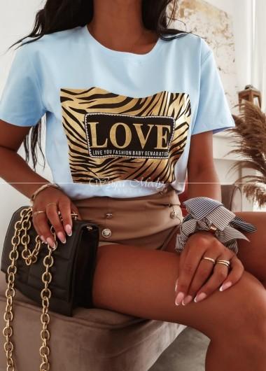 T-shirt Love fashion blue