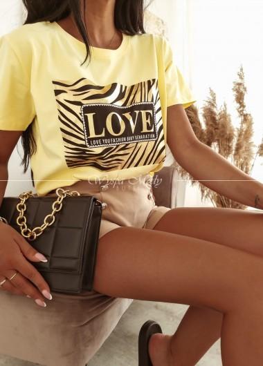 T-shirt love fashion yellow