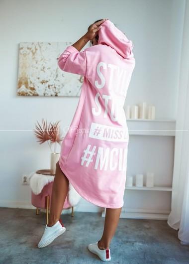 Bluza long style pink