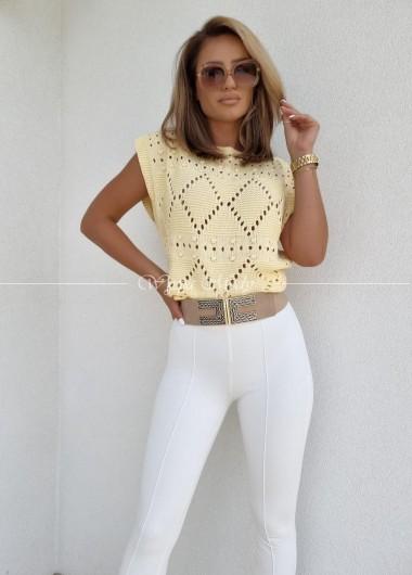 Bluzeczka ażur yellow