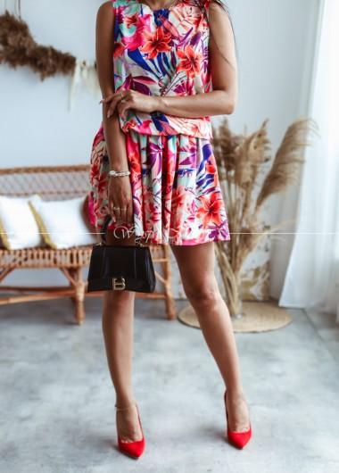 Sukienka tropical color