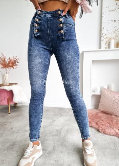 Spodnie jeans button
