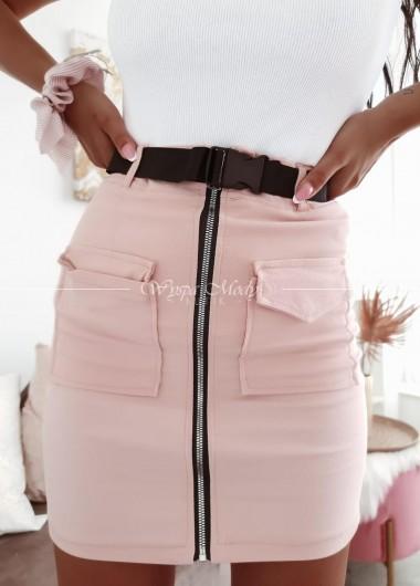 Spódniczka military pink