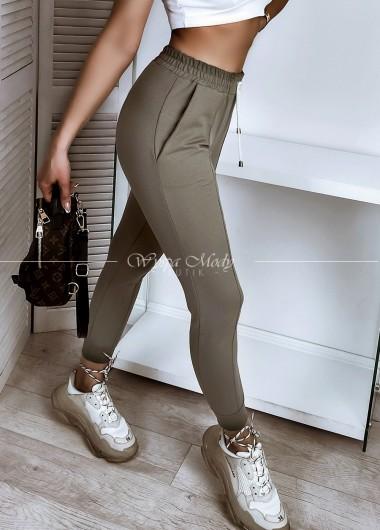Spodnie przeszycia khaki