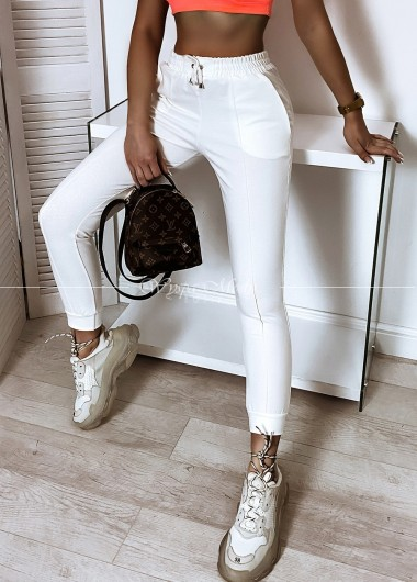 Spodnie przeszycia white