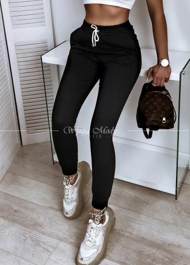 Spodnie przeszycia black