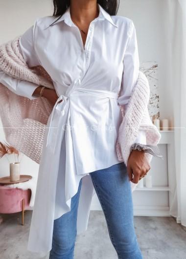 Koszula asymetryczna white
